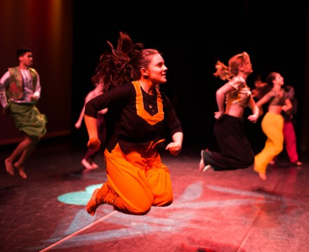 Panoramic Dance Project members perform Bhangra Mashup, choreographed by guest artist Rohit Bulchandani. Photo by Ben Scott.